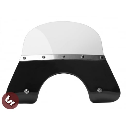 VESPA QUALITY TSR Black Flyscreen PX/LML/T5 Stainless Fixings 125/200 Windshield