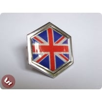 VESPA PX/T5/LML Horncast Badge Hex Chrome Union Jack
