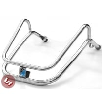 VESPA MK1 T5 Mudguard Stainless Steel Crash Bar+Badge