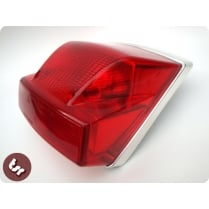 VESPA PX/LML/T5 125/200 Chrome Rear Back Light Unit PREMIUM Top Quality Disc/EFL