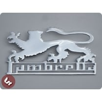 LAMBRETTA Legshield/Side Panel Custom Chrome Badge LION