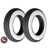 "VESPA/LAMBRETTA Whitewall Continental 10"" Tyre X2 PAIR"
