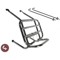 LAMBRETTA Stainless Steel LONG REACH crashbar compatible Rack Luggage Carrier