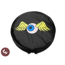 "TSR 10"" Spare Wheel Cover - Flying Eyeball Hot Rod Kustom fits Vespa/Lambretta"