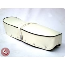 LAMBRETTA TSR Bench Seat White Black Piping S2/S3/GP