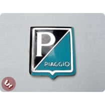 VESPA Horncast Badge P/Piaggio Blue/Black Smallframe