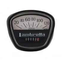 LAMBRETTA Speedo 120KPH GP Italian Thread Black/White Face