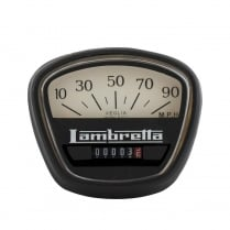 LAMBRETTA Speedo 90MPH GP Italian Thread Black/White Face