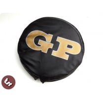 "LAMBRETTA TSR 10"" Spare Wheel Cover Custom GP Letters on Black"