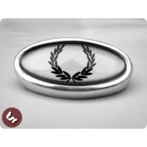 LAMBRETTA TSR Alloy Horncast Badge GP Laurel Crest