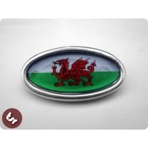LAMBRETTA TSR Alloy Horncast Badge GP Welsh Wales Flag