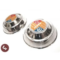 "VESPA 8"" Wheel Hub Caps/Covers Embellishers - Chrome"
