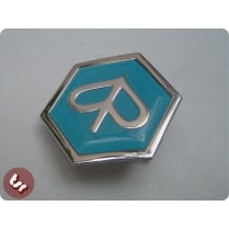 VESPA Horncast Hex Badge- Chrome Piaggio PX/T5/LML Blue