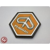 VESPA Horncast Hexagon Badge VLB/SPRINT RALLY - ORANGE