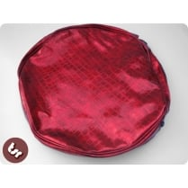 "VESPA/LAMBRETTA 10"" Spare Wheel Cover Red Croc Skin"