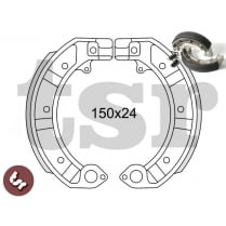 VESPA PK 50/100/125/XL/S TOP Spec Front+Rear Brake Shoe