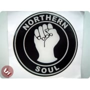 Sticker/Decal-3D NORTHERN SOUL fits VESPA/LAMBRETTA legshield/side panel