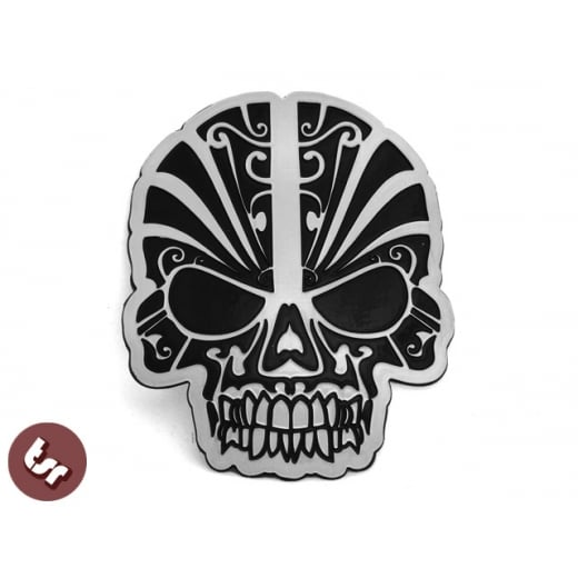 tiki SKULL Hotrod/Ed Roth/Von Dutch CNC Billet Badge/Emblem Panel decaL VW/JDM