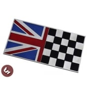 TSR Billet CNC Racing Union Jack UK Rally Flag Badge Emblem fits Vespa/Lambretta