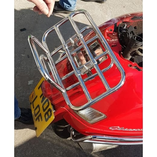 TSR VESPA GTS STAINLESS STEEL SPRINT+GRAND TOURING RACK GTS / GT / GTV . 125 / 250 /300