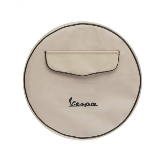 "VESPA 10"" Spare Wheel Cover Cream With Front Pocket"
