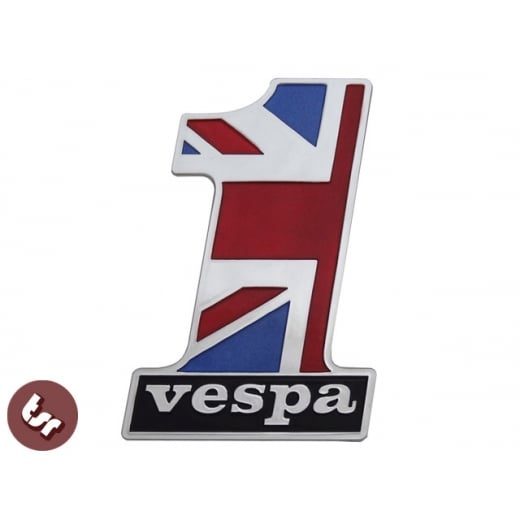 VESPA Billet CNC Number One No 1! Legshield/Panel/Frame Badge