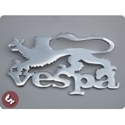 VESPA Chrome Side Panel/Legshield Badge England Lion