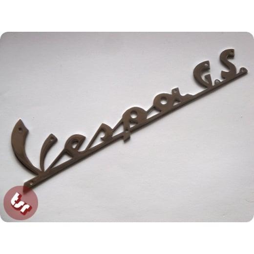 VESPA GS Legshield Badge GS 160 Chrome Scroll GS160