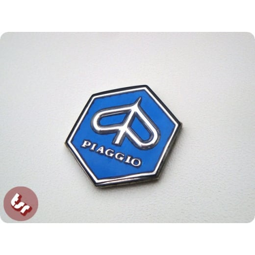 VESPA Headset Hexagon Badge RALLY/GTR - BLUE