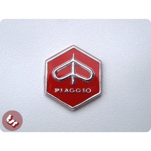 VESPA Headset Hexagon Badge RALLY/GTR - RED