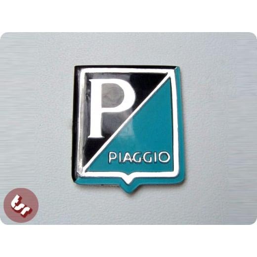 VESPA Horncast Badge P/Piaggio Blue/Black Smallframe