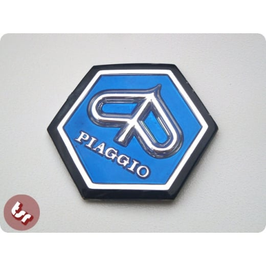 VESPA Horncast Hexagon hex Badge VLB/SPRINT RALLY BLUE