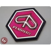 VESPA Horncast Hexagon hex Badge VLB/SPRINT RALLY PINK