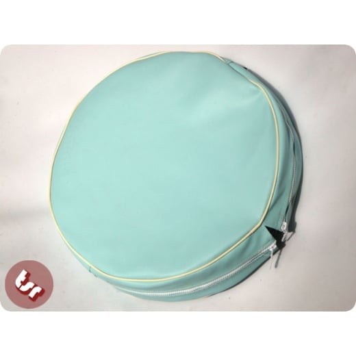 "VESPA/LAMBRETTA 10"" Spare Wheel Cover Baby Blue/Cream"