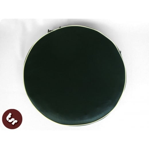 "VESPA/LAMBRETTA 10"" Spare Wheel Cover Dark Green/Cream"