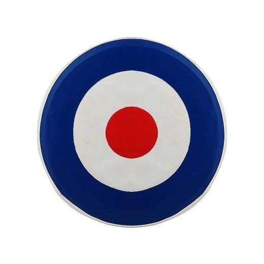 """VESPA/LAMBRETTA 10"""" Spare Wheel Cover MOD Target Red/White/Blue"""