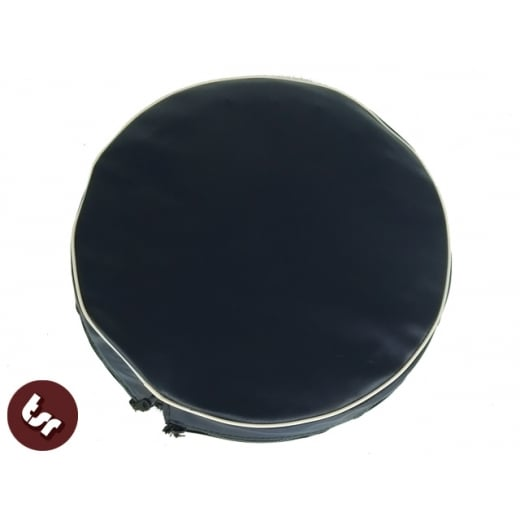 "VESPA/LAMBRETTA 10"" Spare Wheel Cover Navy Blue/cream"