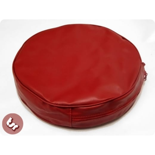 "VESPA/LAMBRETTA 10"" Spare Wheel Cover Ox-Blood Red"