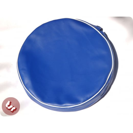 "VESPA/LAMBRETTA 10"" Spare Wheel Cover Royal Blue White"