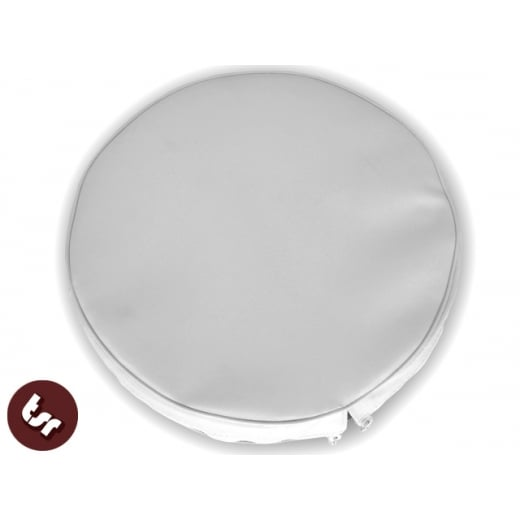 "VESPA/LAMBRETTA 10"" Spare Wheel Cover White"