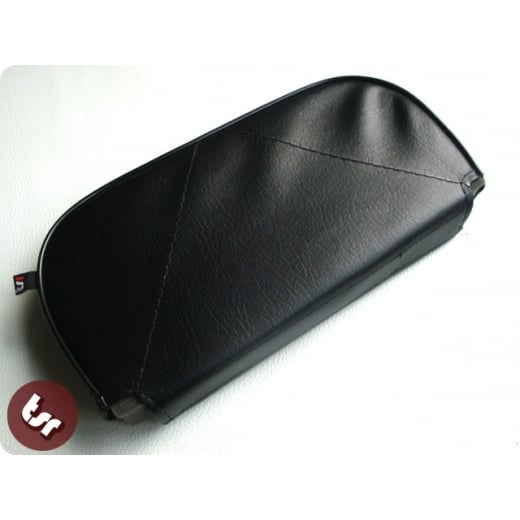 VESPA/LAMBRETTA Back Rest Slipover Cover/Pad Black
