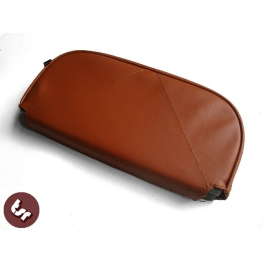 VESPA/LAMBRETTA Back Rest Slipover Cover/Pad Brown
