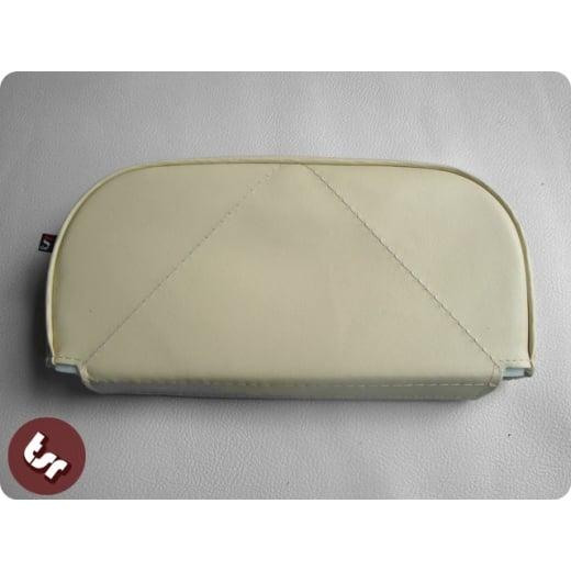 VESPA/LAMBRETTA Back Rest Slipover Cover/Pad Cream