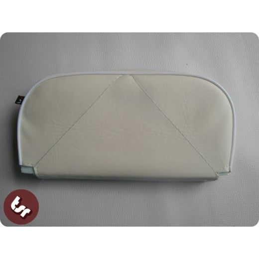 VESPA/LAMBRETTA Back Rest Slipover Cover/Pad White