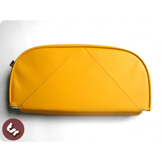 VESPA/LAMBRETTA Back Rest Slipover Cover/Pad Yellow