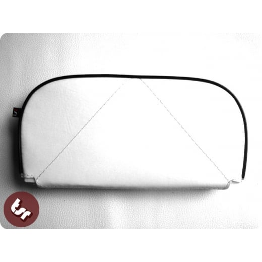 VESPA/LAMBRETTA Back Rest Slipover Cover White/Black