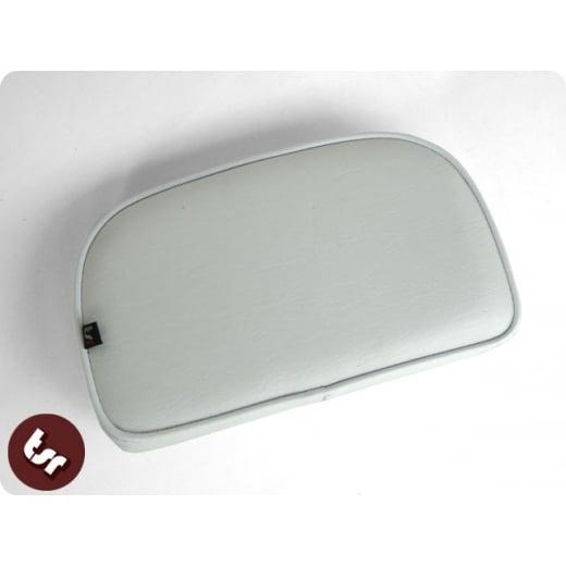 VESPA/LAMBRETTA Rear Rack Back Rest Carrier Seat Pad White Bolt-On
