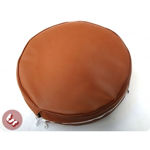 "VESPA/LAMBRETTA TSR 10"" Spare Wheel Cover Brown"