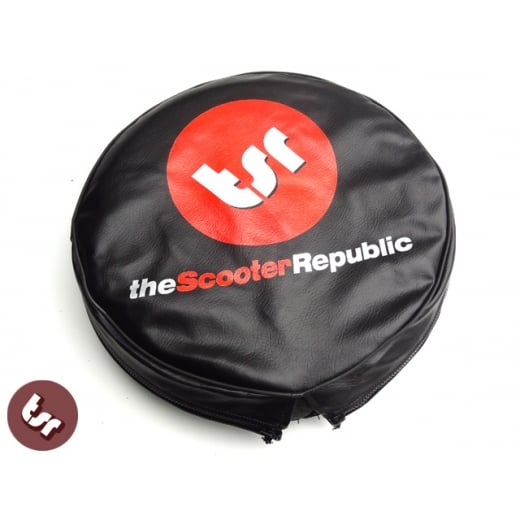 "VESPA/LAMBRETTA TSR 10"" Spare Wheel Cover - Scooter Republic Logo"