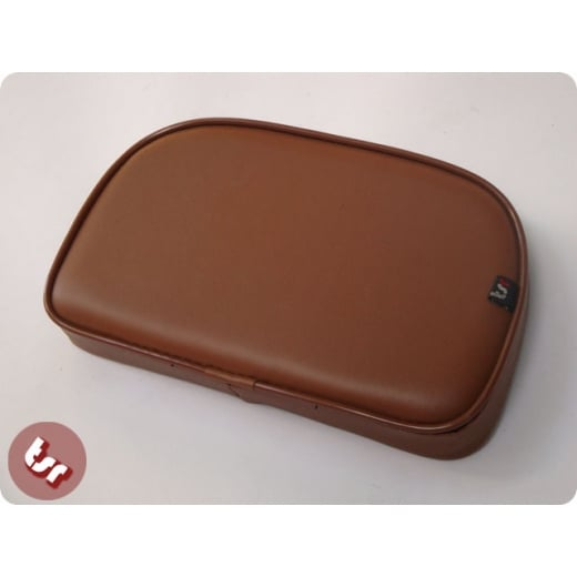 VESPA/LAMBRETTA TSR Rear Rack Back Rest Seat Pad Brown